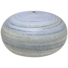 Ceramic Vase by Antonio Lampecco with Blue Glaze Decoration, circa 2000