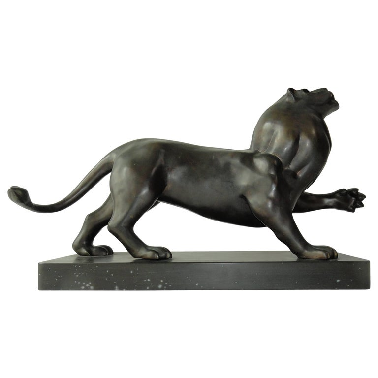 Roberto Estevez, Signed, Lion in Bronze 1