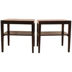 Fine Black Lacquer End Tables