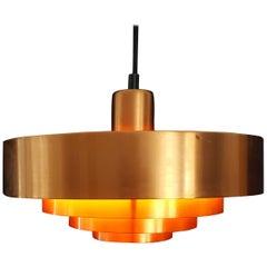 Jo Hammerborg Copper Roulette Pendant Light for Fog and Mørup, Denmark, 1960s
