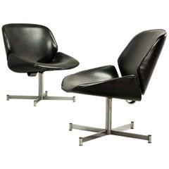 Mid-Century Dutch Design Side Chairs by Geoffrey Harcourt for Exquis / Artifort
