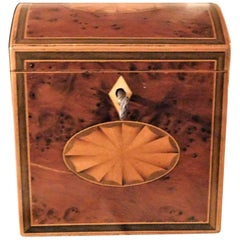 Exceptional George III Domed Top Tea Caddy