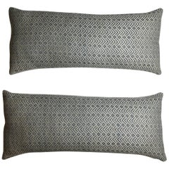 Pair of Geometric Motif Pillows