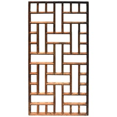 Antique Asian Screen, Geometric Design