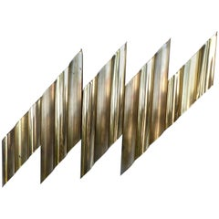 C. Jere Style Brass-Plated Wall Sculpture, circa 1970s