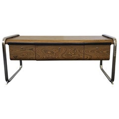Zebrawood and Chrome Credenza by Peter Protzman for Herman Miller