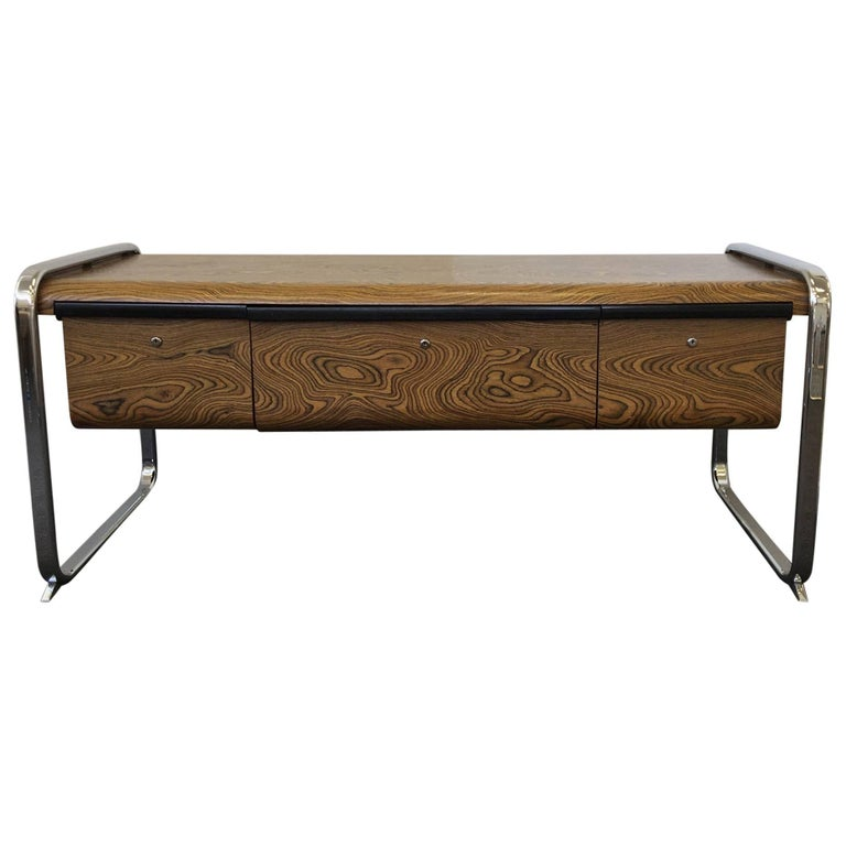 Zebrawood and Chrome Credenza by Peter Protzman for Herman Miller 1