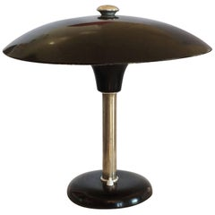 Art Deco German Black Enamel Desk Lamp Bauhaus