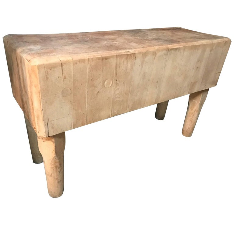 1930s Butcher Block Table