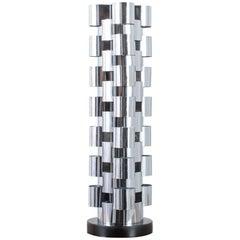 C. Jere Chrome Tower Lamp, 1970s