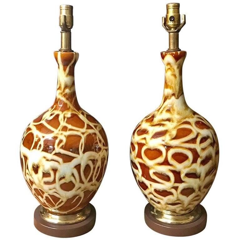 Pair of Mid-Century Modern Ceramic Lamps
