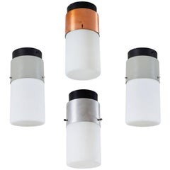 Collection of Four Model 1245 Flush Mount Ceiling Lights by Stilnovo