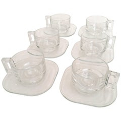 Italora Coffee Cups and Saucers Attributed to Joe Colombo, Italy, 1970s