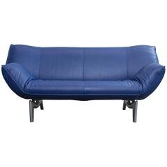 Leolux Tango Designer Leather Sofa Blue Three-Seat Function Modern