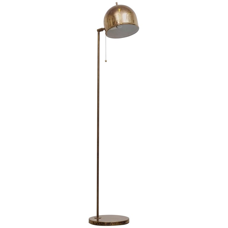 Brass Floor Lamp G-075 by Bergboms, 1960s For Sale