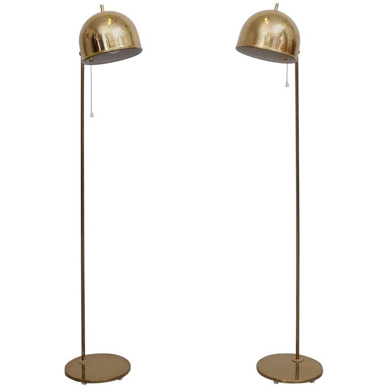 Pair of Floor Lamps, Model G-075, Bergboms, Sweden, 1960s For Sale