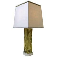 Italian Murano Glass Table Lamp by Seguso for Marbro