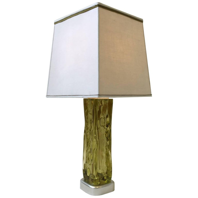Italian Murano Glass Table Lamp by Seguso for Marbro