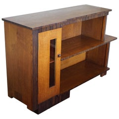 Small and Practical 1920s Oak and Macassar Amsterdam School Style Dresser