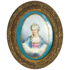 Antique Sevres Bleu Celeste Porcelain Plaque, circa 1880