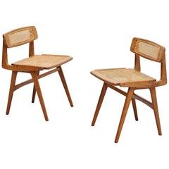 Roger Landault side chairs Forme Libre, France, 1952