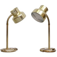 "Pair of Brass Table Lamps ""Bumlingen"" by Anders Pehrson, 1960s"
