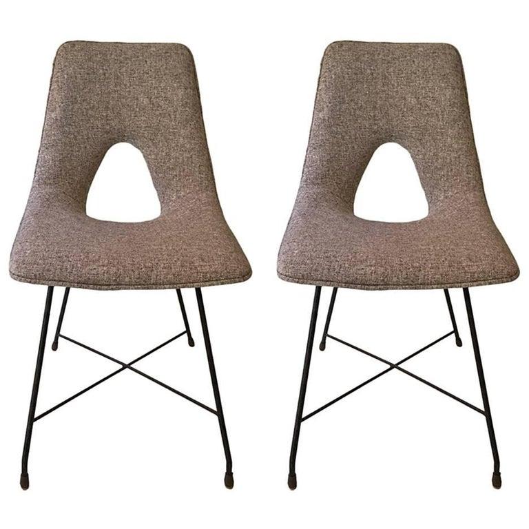 Couple of Chairs, Design Augusto Bozzi Saporiti, 1950 For Sale