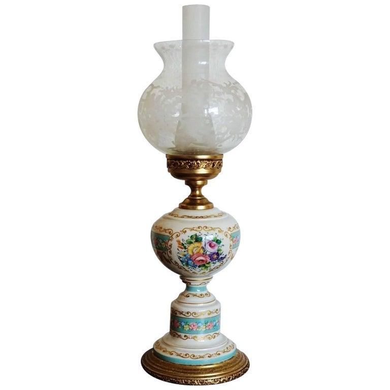 Paris Porcelain Art Nouveau Period Lamp Chinese Taste