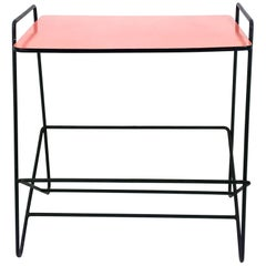 1950s Pilastro Side Table with Salmon Pink Top