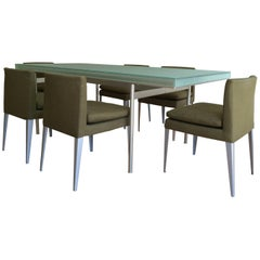 B&B Italia Dining Suite with Six 'Eunice' Dining Chairs & 'Angiolo' Dining Table