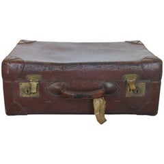 Vintage Abercrombie and Fitch Leather Suitcase