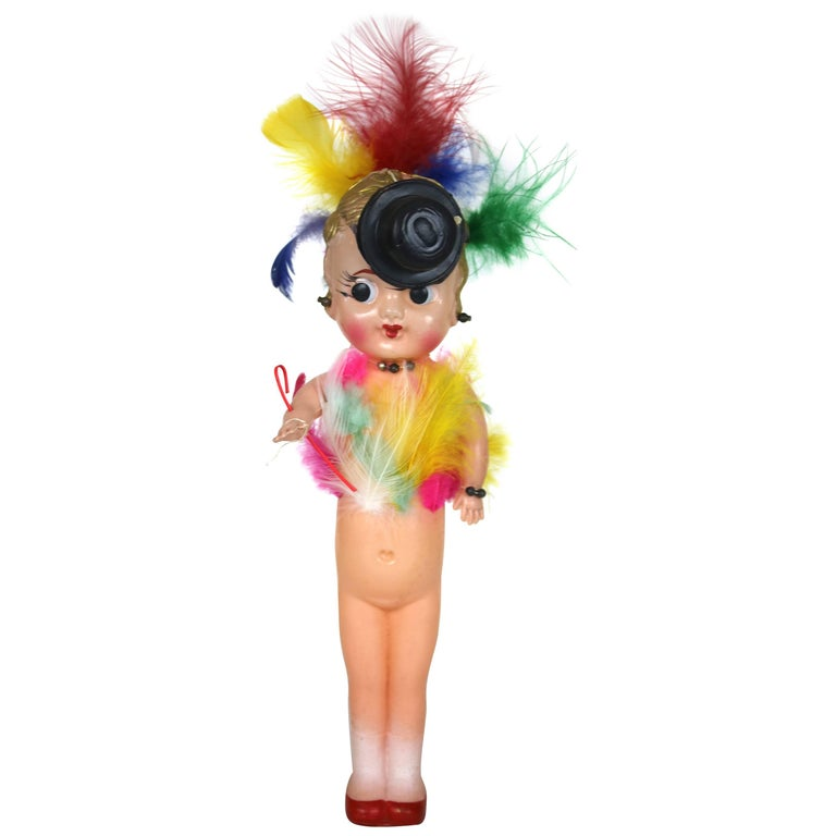 Vintage 1940s Celluloid Carnival Kewpie Doll--6 Available