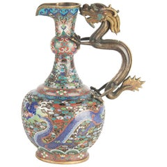 Important Antique Chinese Cloisonne Ewer, late 19th Century