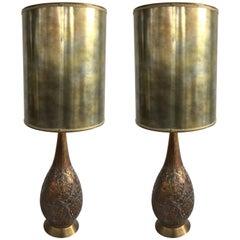 Pair of Mid-Century Hollywood Regency Lamps, 1960s
