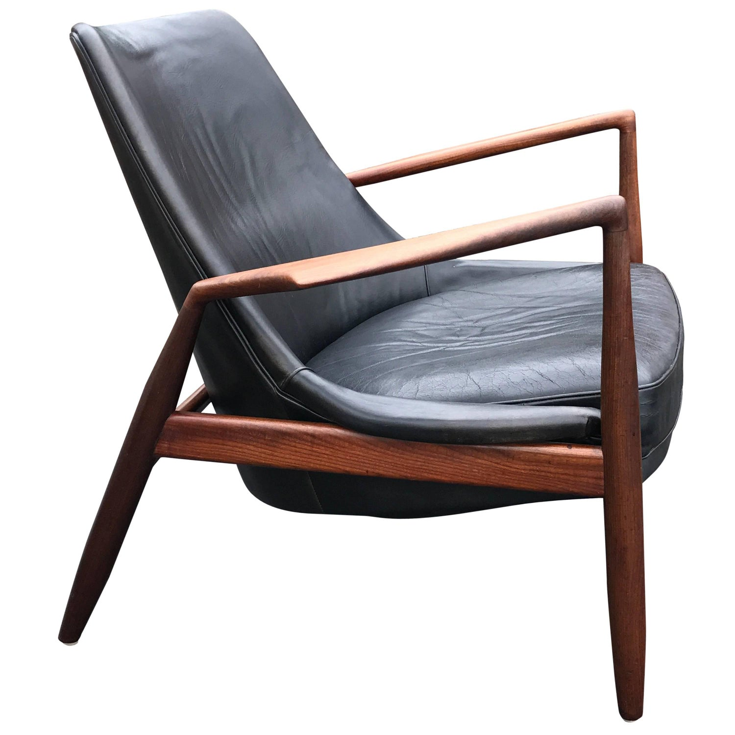 Wooden easy chair models - Seal Lounge Chair By Ib Kofod Larsen For Ope Mobler Sweden 1960s