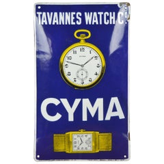 1920s Enamel Sign Cyma Watches