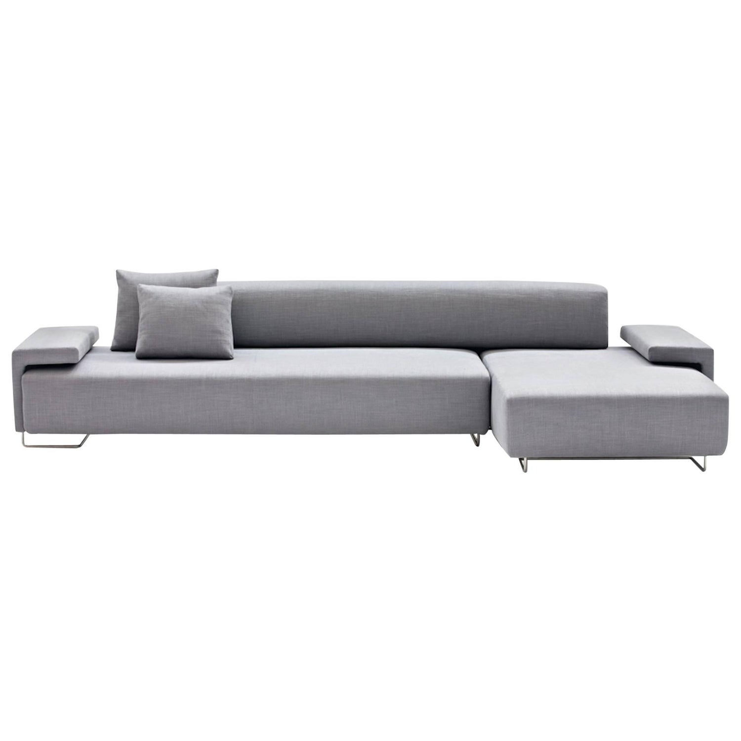 "Minotti ""Andersen Slim 103 Quilt"" L Shape Sofa by Dordoni in ""Paco"