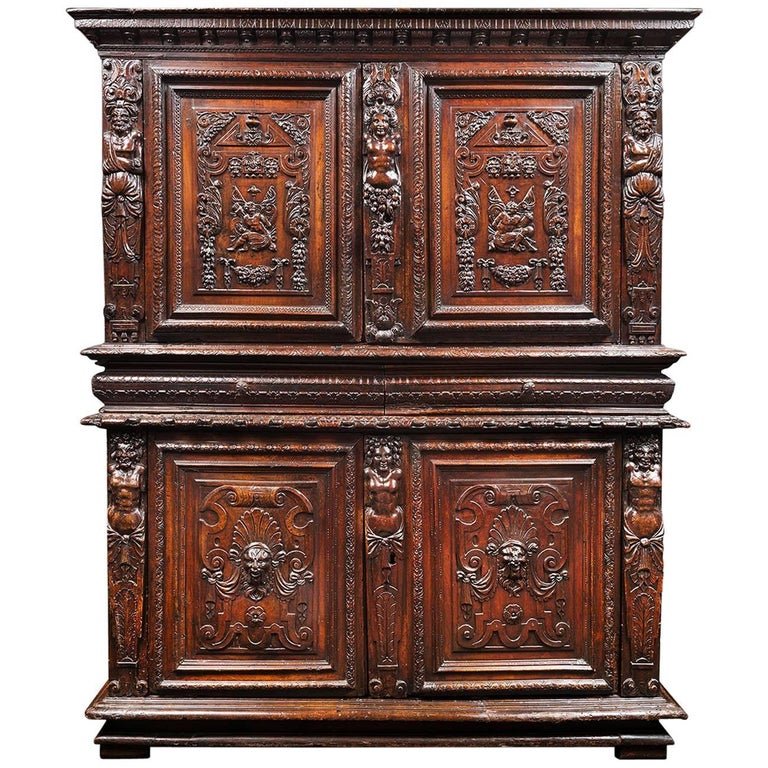 16th century french renaissance 39 meuble deux corps 39 for for Meubles furniture