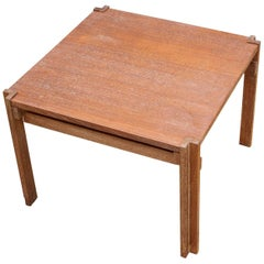 Werner Blaser Bauhaus Geometric Styled Side Square Coffee Table