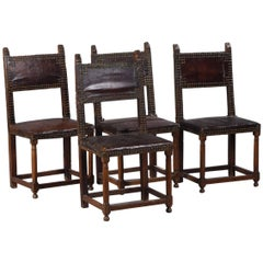 Set of Four Renaissance Back Chairs