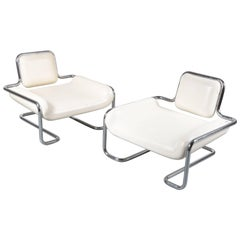 Pair of Limande Chairs by Kwok Hoï Chan for Steiner in France, 1971