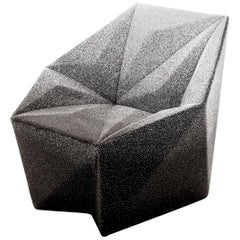 Moroso Gemma Chair in Black and White Blur Fabric by Daniel Liebeskind, 2015