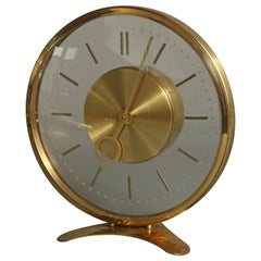 Clock in Brass and Glass, 1950s