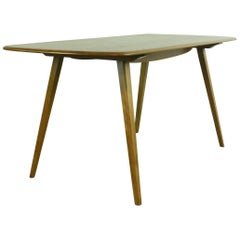 Vintage Midcentury British Ercol Plank Dining Table