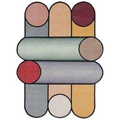 Rotazioni B Carpet by Patricia Urquiola in Himalayan Wool and Pure Silk