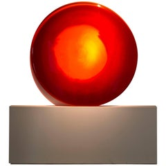 'Red Sun' Glass Wall Sculpture
