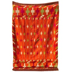 Vintage Phulkari Bagh Wedding Shawl, Punjab, India