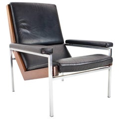 Lounge Chair in Leather by Rob Parry 1960s Dutch Vintage Collectable