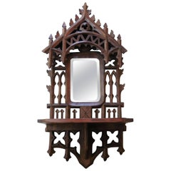 Neo Gothic Wood Carved Shelf