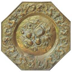French Oversize Brass Fruits Platter, circa 1890